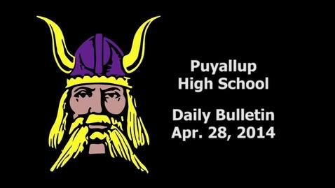 Thumbnail for entry PHS Daily Bulletin 04-28-14