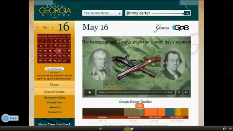 Thumbnail for entry How to Use the Today in Georgia History Website