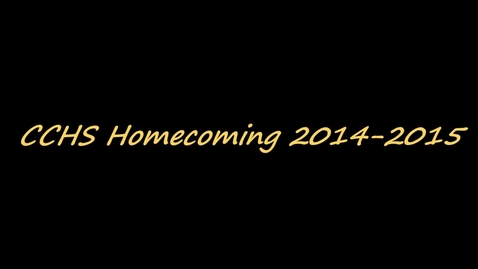 Thumbnail for entry CCHS Homecoming Nominees