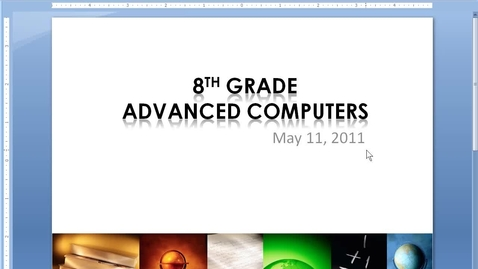 Thumbnail for entry Advanced Computers - May 11 - Agenda