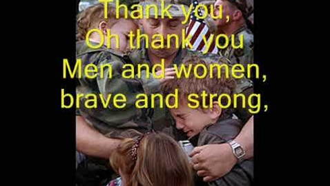 Thumbnail for entry Thank You Soldiers - Veteran's Day/Memorial Day Song