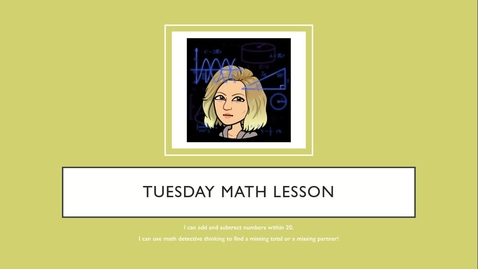 Thumbnail for entry Tuesday Math Lesson 6-2