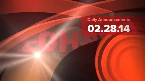 Thumbnail for entry Redhawk Rave Daily Announcements 2.28.14