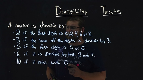 Thumbnail for entry How to find out what a number is divisible by | Divisibility Tests | Minute Math