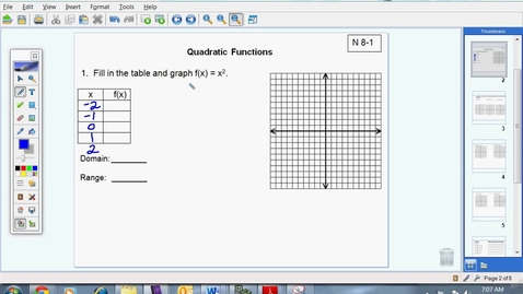Thumbnail for entry Quadratic Functions