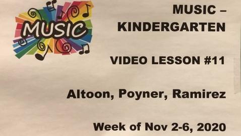 Thumbnail for entry Music K Lesson #11