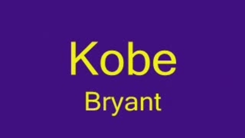 Thumbnail for entry Kobe Bryant by Phillip Houston and Justin Moore