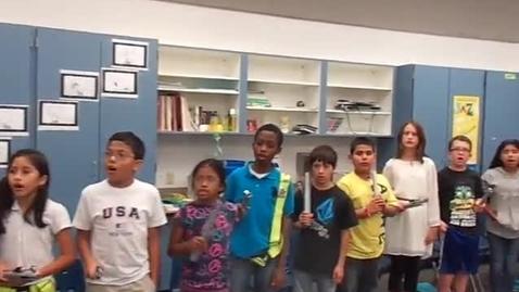"Thumbnail for entry 13-14 Mr. Santiago's 5th grade class ""Jingle Bells"""