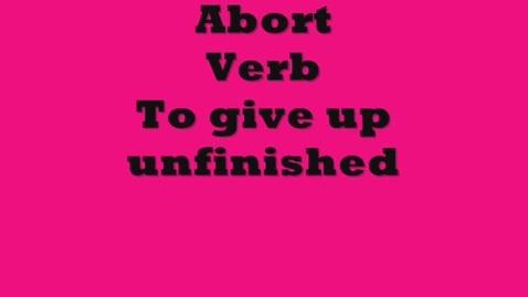 Thumbnail for entry Abort - SAT Brainyflix