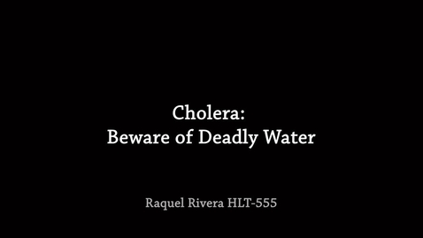 Thumbnail for entry Cholera PSA: Deadly Waters