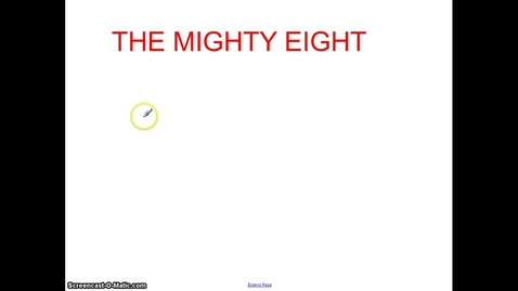 Thumbnail for entry The Mighty Eight: Rule One