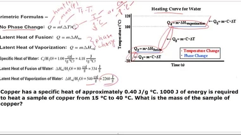 Thumbnail for entry Solving for heat for no phase heat problem