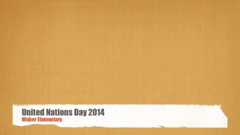 Thumbnail for entry UN Day 2014