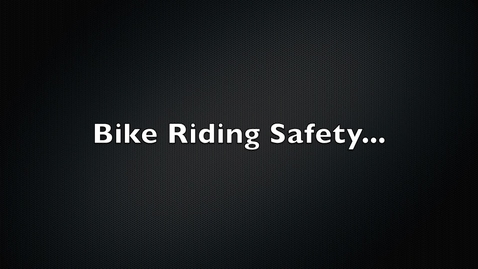 Thumbnail for entry 1st through 5th PE Lesson - Bike Safety and Activity