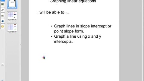 Thumbnail for entry Station 3 Graphing equations