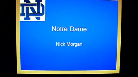 Thumbnail for entry Nicks Notre Dame powerpoint