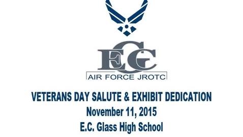 Thumbnail for entry E.C. Glass High School: Veteran's Day Salute & Exhibit Dedication