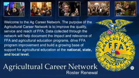 Thumbnail for entry Agricultural Career Network Roster Renewal