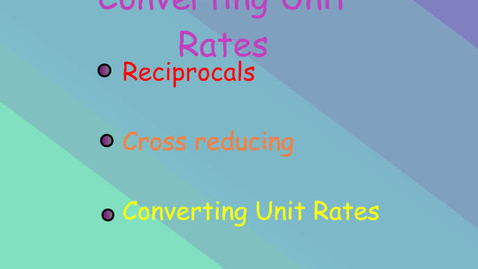 Thumbnail for entry Converting Customary Unit Rates