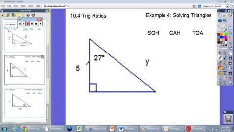 Thumbnail for entry 10.4 Trig Ratios #4