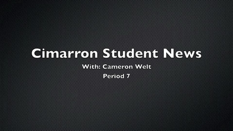 Thumbnail for entry Cameron News Story 4