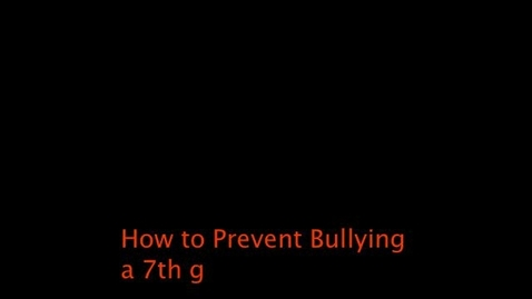 Thumbnail for entry How to Prevent Bullying