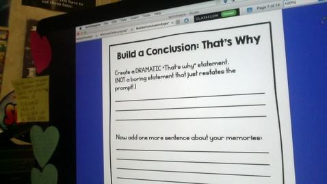 Thumbnail for entry Writing a Conclusion