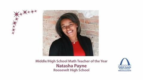 Thumbnail for entry SLPS Math Teacher of the Year, Natasha Payne