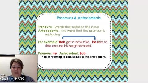 Thumbnail for entry Pronoun &  Antecedents