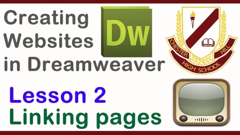 Thumbnail for entry Dreamweaver Lesson 2