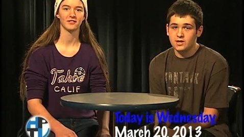Thumbnail for entry Wednesday, March 20, 2013