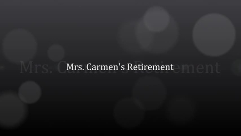 Thumbnail for entry Carmen's Retirement show