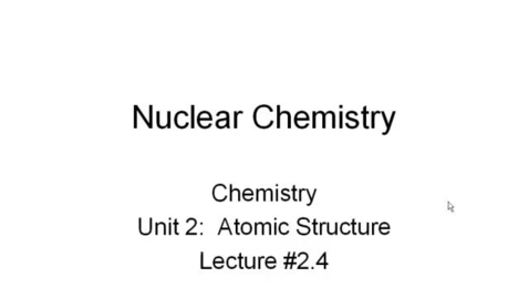 Thumbnail for entry Nuclear Chemistry