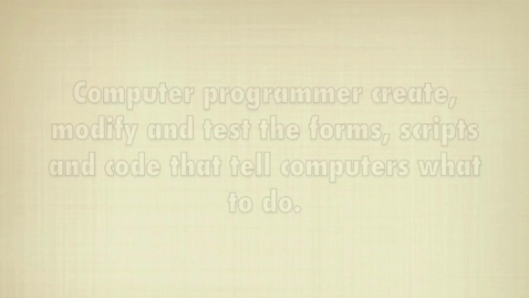 Thumbnail for entry Become a Computer Programmer