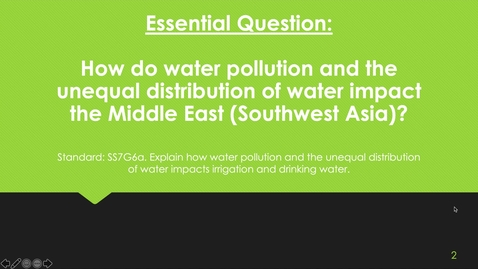Thumbnail for entry The Impact of Water in the Middle East