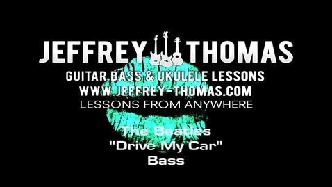 "Thumbnail for entry The Beatles ""Drive My Car"" Bass Lesson"