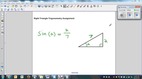 Thumbnail for entry Right Triangle Trigonometry Assignment Question 5