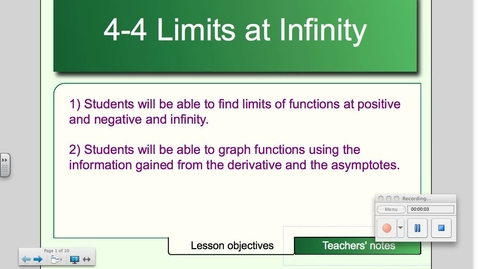 Thumbnail for entry 4-4 Limits at Infinity, Horizontal Asymptotoes