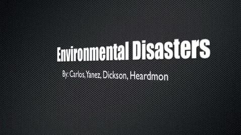 Thumbnail for entry Environmental Disasters