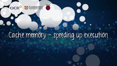 Thumbnail for entry Cache memory - speeding up execution - Part A