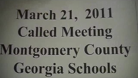 Thumbnail for entry Montgomery BOE Meeting (3-21-11)