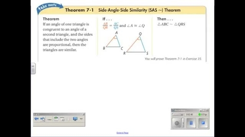 Thumbnail for entry SAS and SSS Triangle Similarity