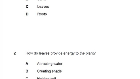 Thumbnail for entry Stemscopes- Plant Characteristics Post Assessment