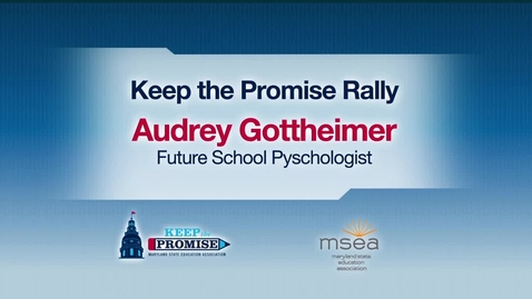 Thumbnail for entry Graduate Student Audrey Gottheimer's Keep the Promise Rally Speech