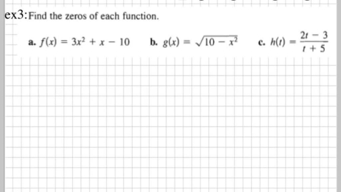 Thumbnail for entry How do you find the zeros of a function?