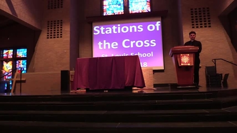 Thumbnail for entry St. Louis School Stations of the Cross - Closeup view