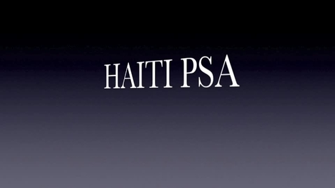 Thumbnail for entry Haiti PSA