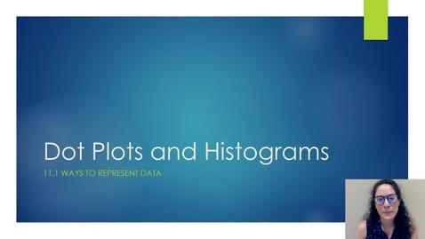 Thumbnail for entry 11.1 Dot Plots and Histograms