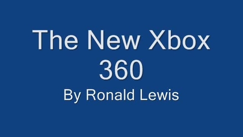 Thumbnail for entry Ronald's XBox