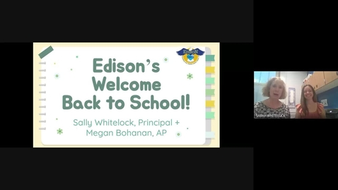 Thumbnail for entry Back to school night video (2021-2022)